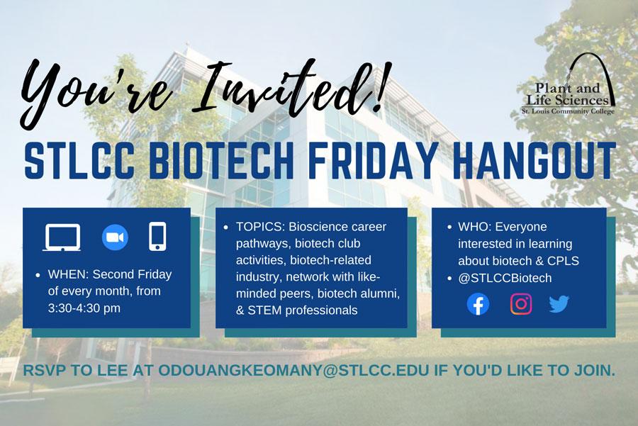 St. Louis Community College Biotech Friday Hangout